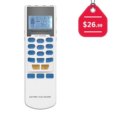 HealthmateForever - 15 Modes TENS Unit & Muscle Stimulator, $26.99