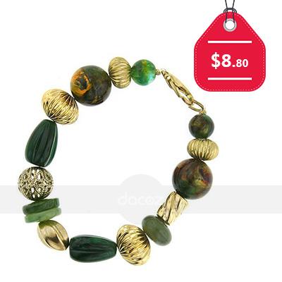 Santa Fe Copper & Turquoise Stretch Bracelet, $8.80