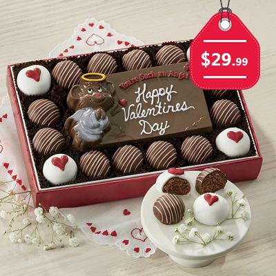 Chocolate Valentine Card with Truffles, $29.99