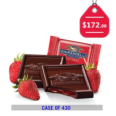 Case of 430: Dark Chocolate Strawberry Square Case Pack