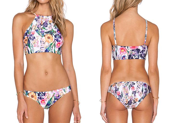 Multicolor Floral Two-Piece Bikini, 73% Off