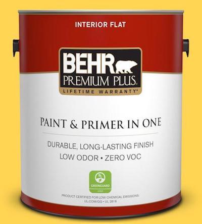 1-gal. #P300-6 Buzzin Flat Interior Paint