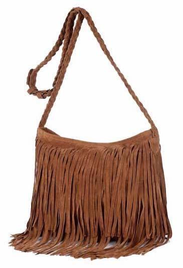 Fashion Brown Tassels Bag