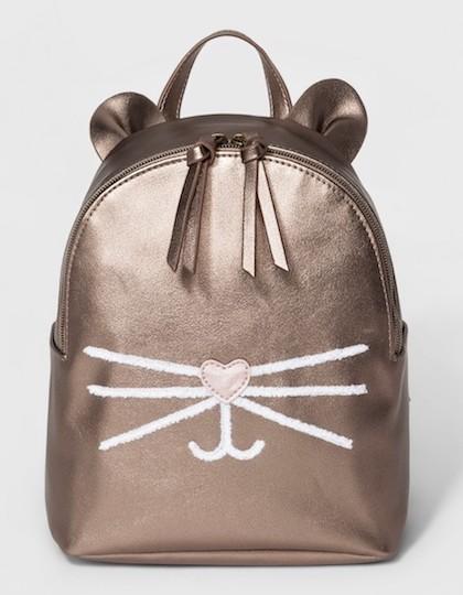 Zip closure Backpack Handbag