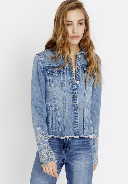 Women's EMBROIDERY Denim Jacket