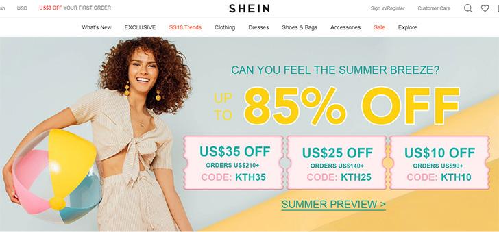 SheIn.com Home