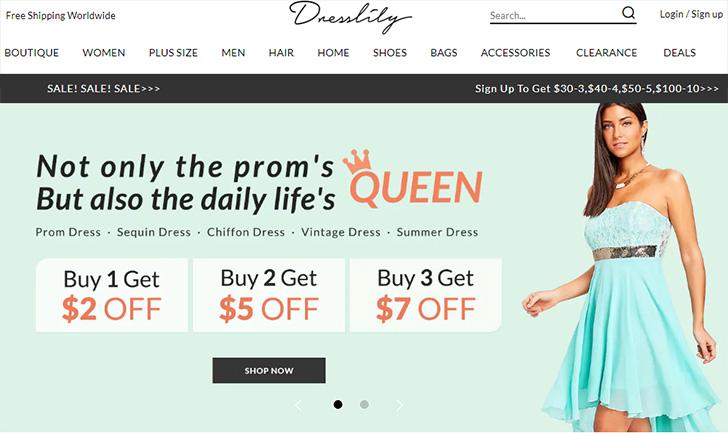 DressLily.com Home