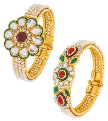 The Luxor Designerwear Pearl Kada Combo Earring