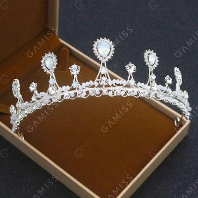 Silver Fashion Wedding Dress Accessories Wedding Princess Crown