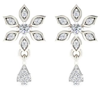 Sparkles 18 Kt 0.1 Cts Diamond Earrings - T12365
