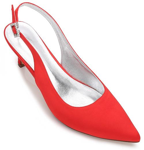 Women's Wedding Shoes Kitten Heel Ankle Strap Comfort