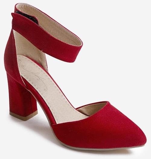 Plus Size Block Heel Leisure Pointed Toe Sandals