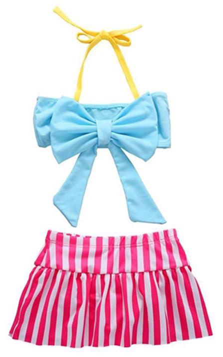 Children Sleeveless Beach Swimsuit 2PCS Holiday Bathing Suit
