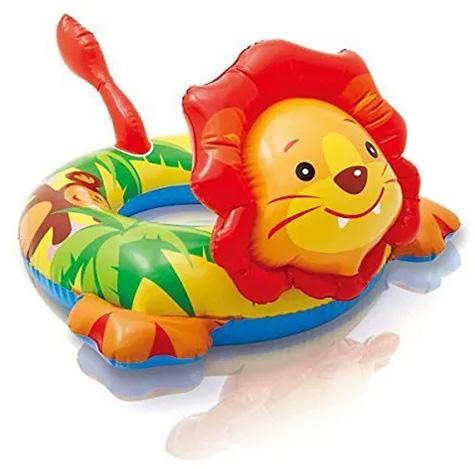 Intex Lion Shape Inflatable Swim Ring, Multi Color