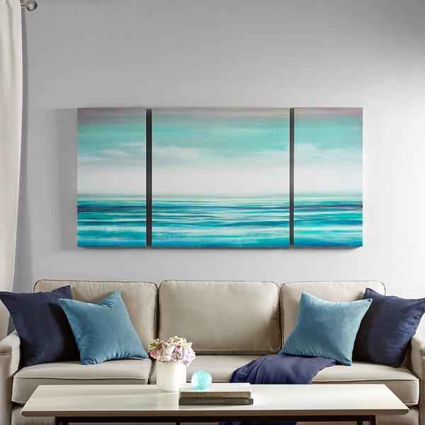 Blue Teal Tides Gel Coat Canvas
