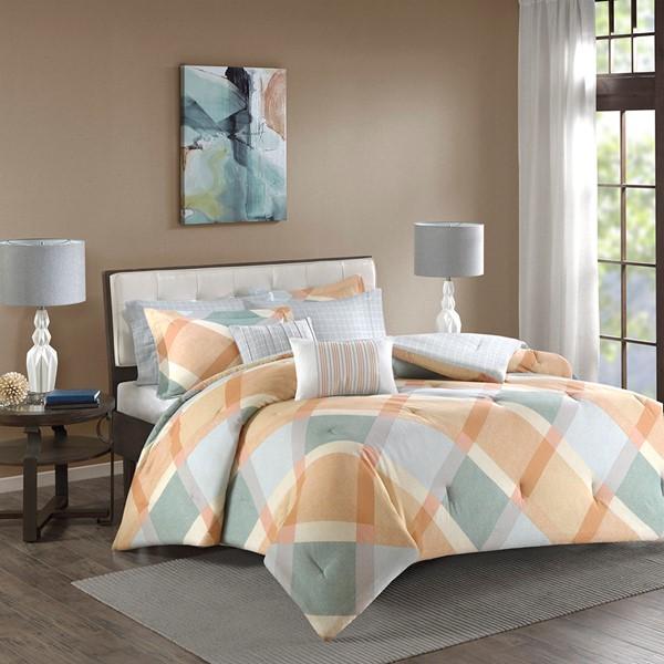 Drew Cotton Flannel Comforter Set