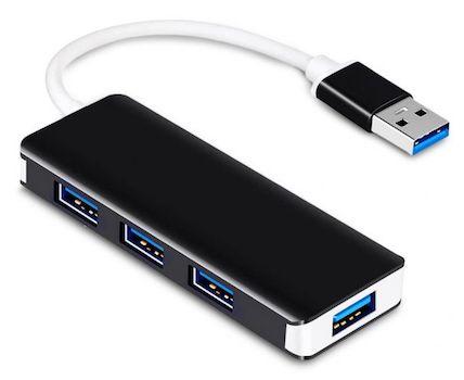 Aluminum Alloy 4-Port USB 3.0 Hub