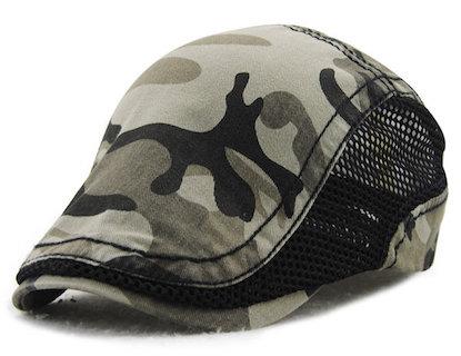 Men Women Camouflage Mesh Cotton Beret Cap Camo Newsboy Gorras Visors Sun Hat