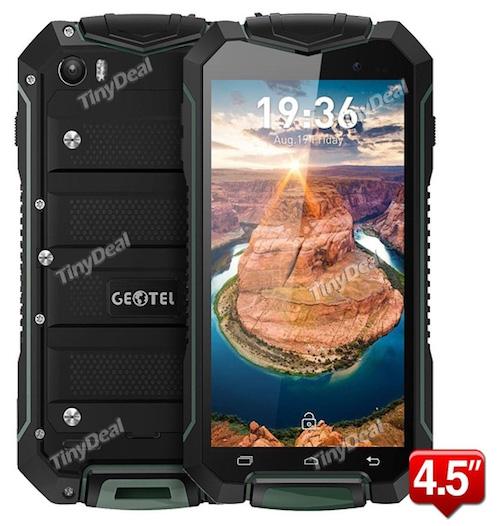 "GEOTEL A1 MTK6580M Quad-core 4.5"" qHD Android 7.0 3G Phone 1GB RAM 8GB ROM IP67 Gorilla Glass 3400mAh"
