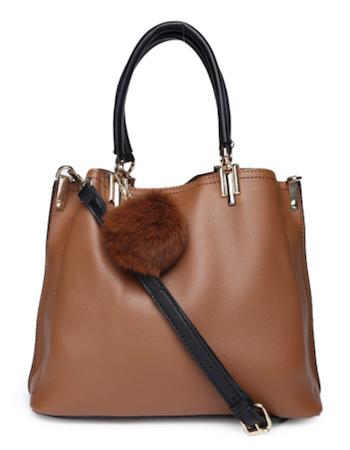 DressBerry Tan Solid Shoulder Bag