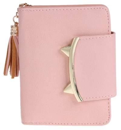 Lovely Women PU Leather Short Wallet Card Coin Holder Purse(Light Pink)