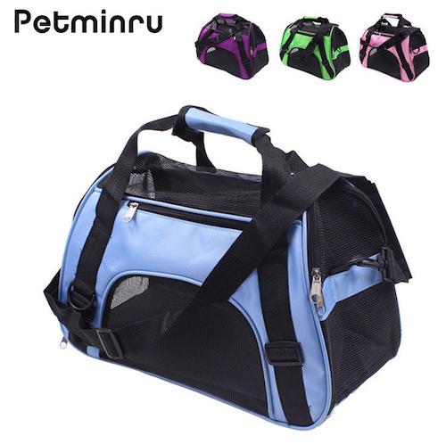 Petminru Portable Pet Backpack Messenger Carrier Bags