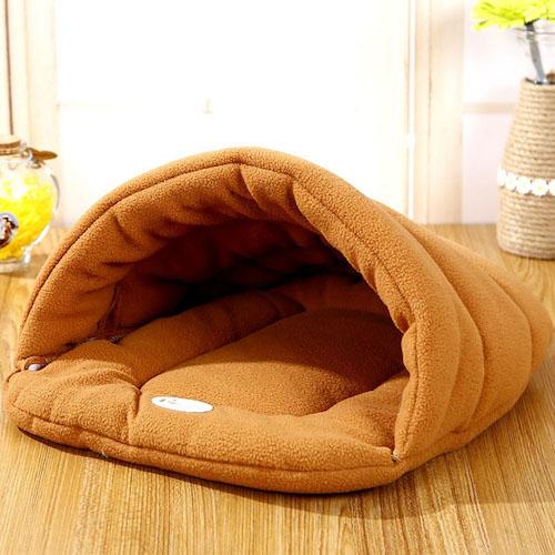 Small Dog Puppy Kennel Sofa Polar Fleece Material Bed