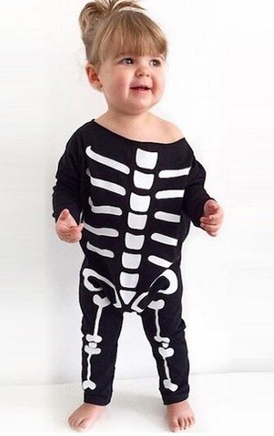 Vogue Skeleton Designed Baby's Halloween Costume