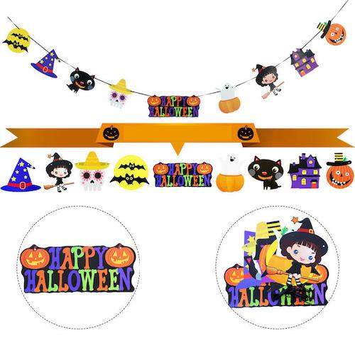 Halloween Hanging Paper Ghost Pumpkin Funny Door Hanger Foldable Fun Halloween Party Supplies from Banggood