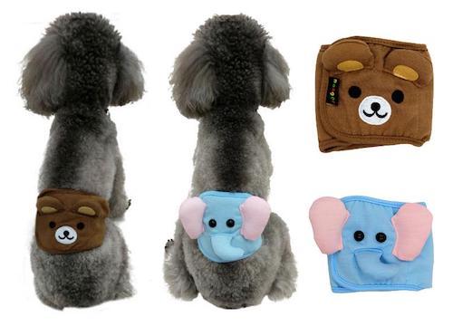 Dog Diaper Male Washalbe Elephant Bear Dog Wraps Doggy Pants Pet Underwear from Buyincoins