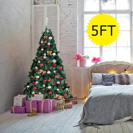 5'/6'/7'/8' Green PVC Artificial Christmas Tree