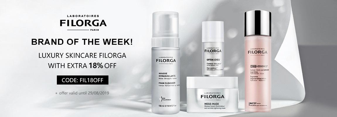 Enjoy a HUGE 18% OFF discount the Leader of Luxury Skincare – FILORGA