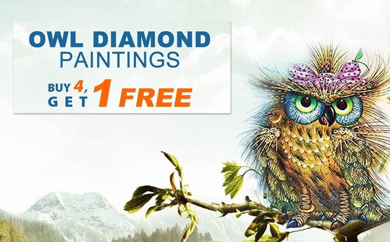 OWL DIAMOND PAINTINGS BUY4, GET 1 FREE