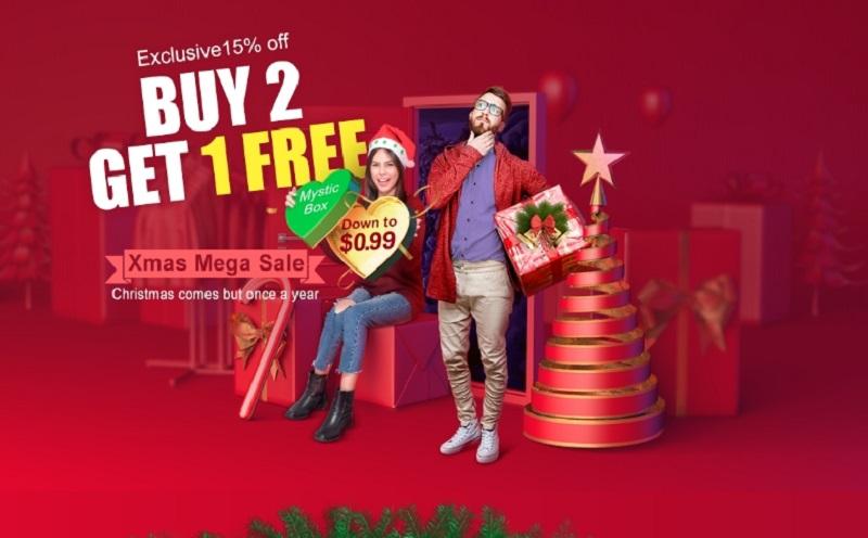 Xmas Mega Sale - Buy 2 Get 1 FREE
